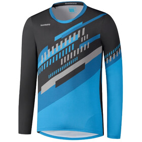 Shimano Myoko LS Jersey Men, black/grey/blue